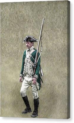 Marching Loyalist Soldier Revolutionary War Canvas Print