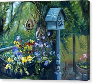 Marcia's Garden Canvas Print by Donna Tuten