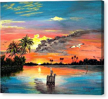Marco Island Study Canvas Print by Riley Geddings