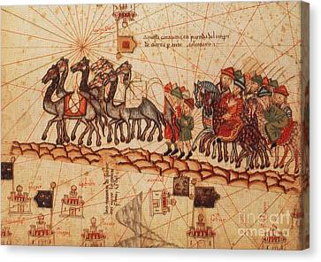 Marco Polos Caravan, 14th Century Canvas Print by Photo Researchers