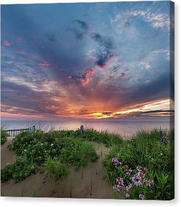 Marconi Station Sunrise Square Canvas Print by Bill Wakeley