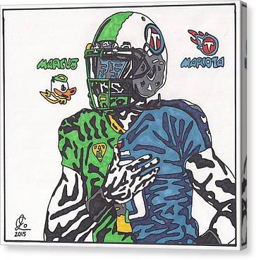 Marcus Mariota Crossover Canvas Print by Jeremiah Colley
