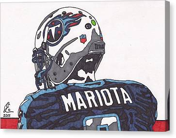 Marcus Mariota Titans 2 Canvas Print by Jeremiah Colley