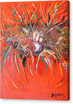 Canvas Print featuring the painting Mardi Gras 2 by Gary Smith
