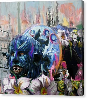 Mardi Gras 236 1 Canvas Print by Mawra Tahreem