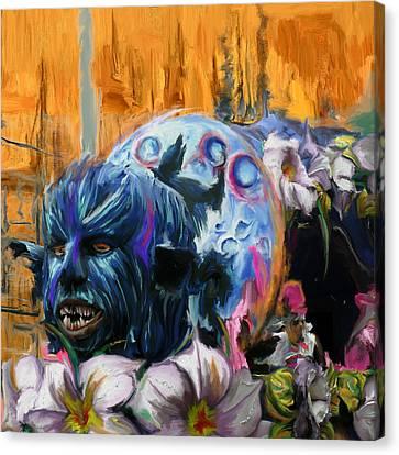 Mardi Gras 236 2 Canvas Print by Mawra Tahreem