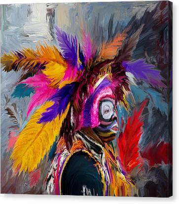 Mardi Gras 237 1 Canvas Print by Mawra Tahreem
