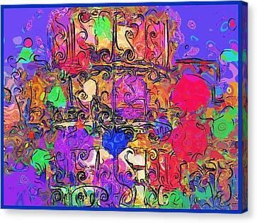 Canvas Print featuring the digital art Mardi Gras by Alec Drake