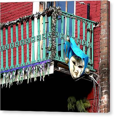 Mardi Gras Balcony Canvas Print