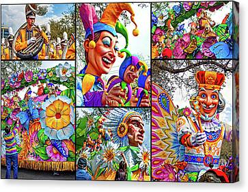 Mardi Gras Collage - Let The Good Times Roll 2 Canvas Print by Steve Harrington