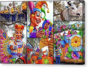 Mardi Gras Collage - Let The Good Times Roll Canvas Print by Steve Harrington