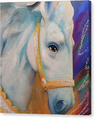 Mardi Gras Horse Canvas Print by Julianne Ososke