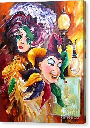 Mardi Gras Images Canvas Print by Diane Millsap