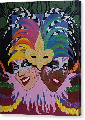 Mardi Gras In Colour Canvas Print by Angelo Thomas