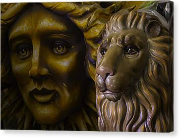 Mardi Gras Lion Canvas Print by Garry Gay