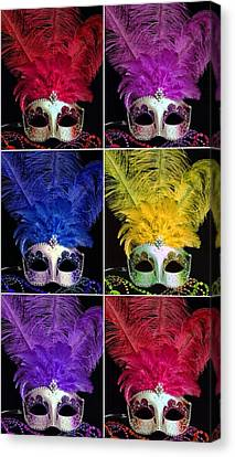 Mardi Gras Mask Collage 2 Canvas Print