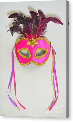 Mardi Gras Mask No 1 Canvas Print by Mary Deal