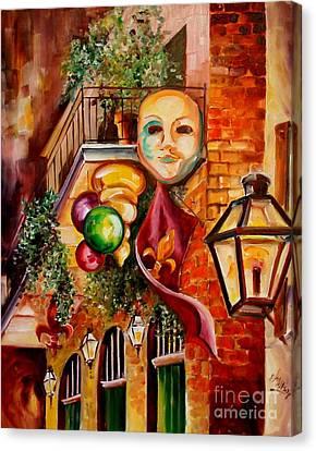Mardi Gras Night Canvas Print by Diane Millsap