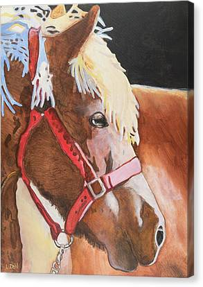 Mare In The Sun Canvas Print by Lois Dahl
