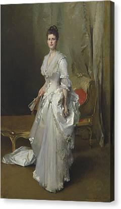 Margaret Stuyvesant Rutherfurd White Canvas Print by John Singer Sargent