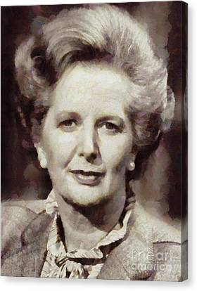 Margaret Thatcher, Prime Minister Of The United Kingdom By Sarah Kirk Canvas Print