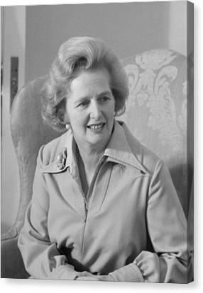 British Politicians Canvas Print - Margaret Thatcher by War Is Hell Store