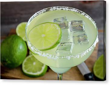 Canvas Print featuring the photograph Margarita Close Up by Teri Virbickis