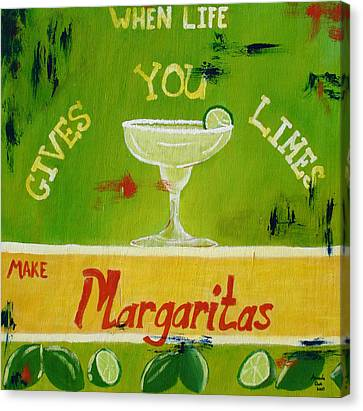 Margaritas Canvas Print by Amanda Clark