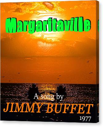 Margaritaville Song Poster Art Canvas Print by David Lee Thompson