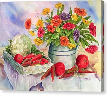 Margie's Veggies Canvas Print