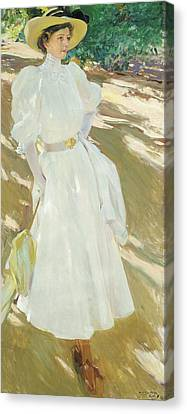Maria At La Granja, 1907 Canvas Print by Joaquin Sorolla y Bastida