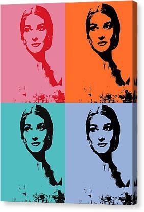 Maria Callas Pop Art Panels Canvas Print