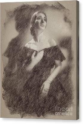 Noir Canvas Print - Maria Callas, Soprano by Frank Falcon