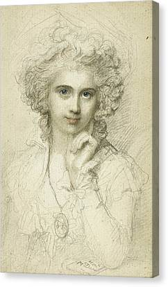 Maria Cosway Canvas Print by Richard Cosway