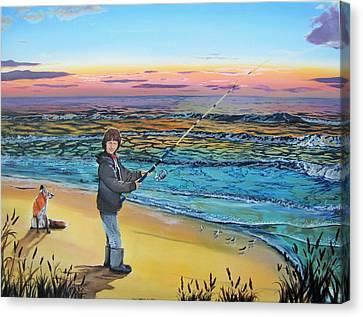 Maria Mae Canvas Print by Kevin F Heuman