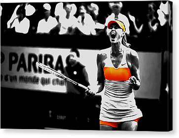Maria Sharapova 031 Canvas Print by Brian Reaves