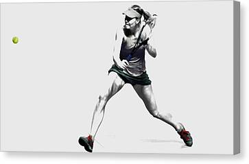 Maria Sharapova 3y Canvas Print by Brian Reaves