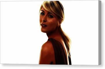 Maria Sharapova 5c Canvas Print by Brian Reaves