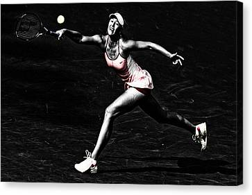 Maria Sharapova Extended Canvas Print by Brian Reaves