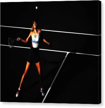 Maria Sharapova Focus Canvas Print by Brian Reaves