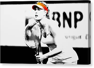 Maria Sharapova Stay Focused 2 Canvas Print by Brian Reaves