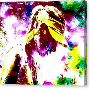 Maria Sharapova Paint Splatter 4c Canvas Print by Brian Reaves