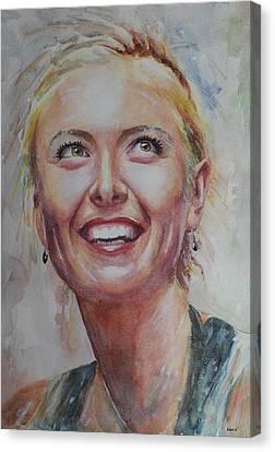Maria Sharapova Canvas Print - Maria Sharapova - Portrait 3 by Baris Kibar