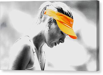 Maria Sharapova Stay Focused Canvas Print by Brian Reaves