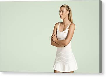 Maria Sharapova Canvas Print - Maria Sharapova Tennis Player by Anne Pool