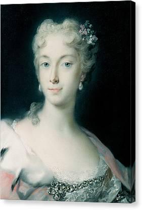 Maria Theresa, Archduchess Of Habsburg Canvas Print by Rosalba Carriera