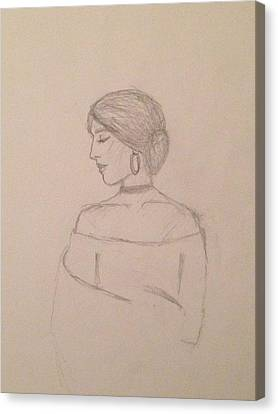 Choker Canvas Print - Maria Unfinished  by Amor Manzanares