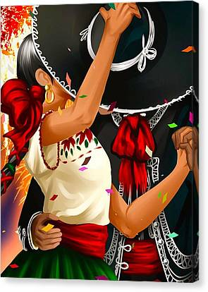 Igers Canvas Print - Mariachi Dance  by Oscar Benero Lopez
