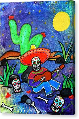 Mariachi Siesta Canvas Print by Pristine Cartera Turkus
