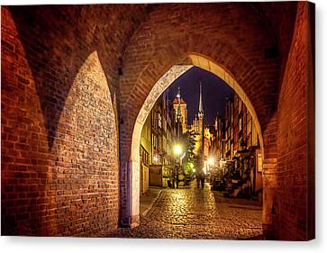 Mariacka By Night  Canvas Print